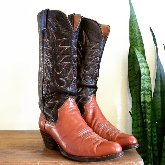 89abba5b97e SANDERS MEXICO Men's 10 D Vintage Cowboy Boots